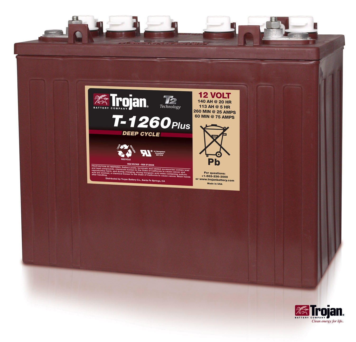 Jb Carts New 12v Trojan T1260 Batteries